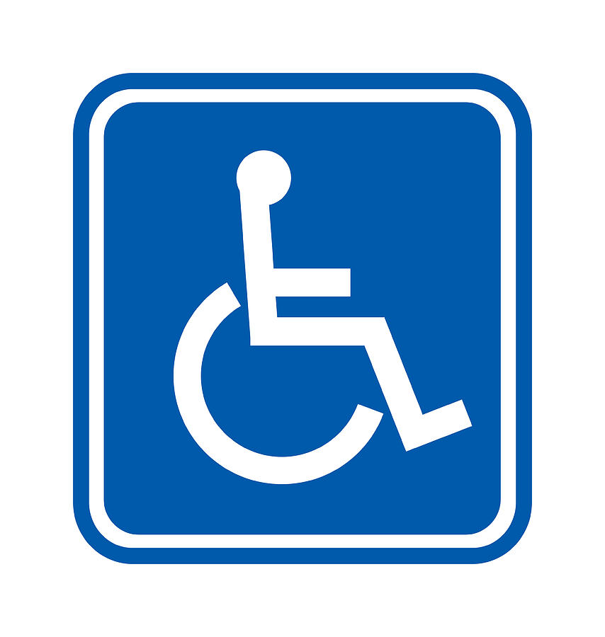 Badge Photograph - Disability Sign, Computer Artwork by