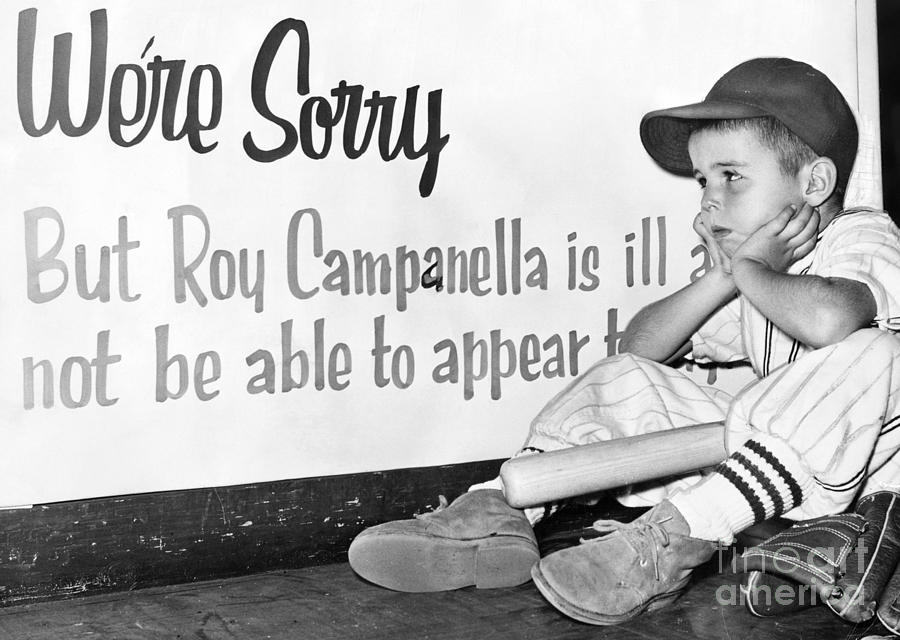 1957 Photograph - Disappointed Boy, 1957 by Granger