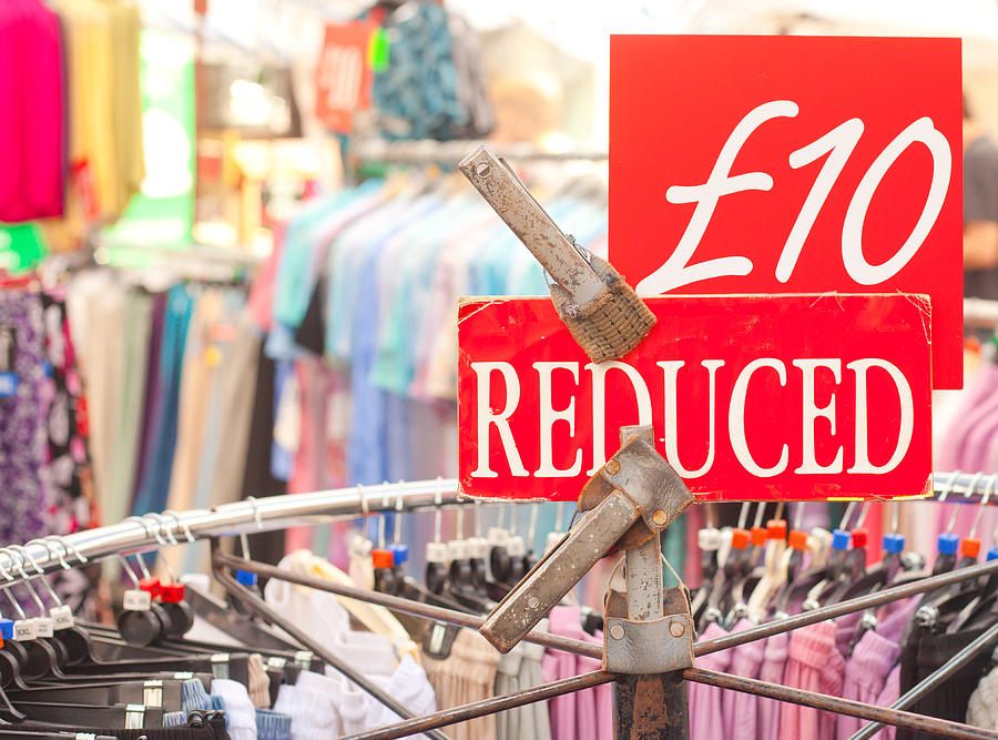 Britain Photograph - Discount Clothing by Tom Gowanlock