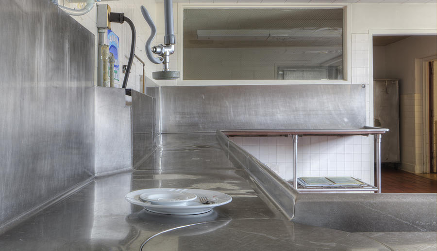 Chores Photograph   Dish Washing Area Of Commercial Kitchen By Douglas Orton