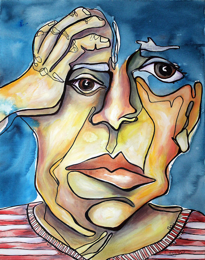 Portrait Painting - Disjointed Thought by Darcy Lee Saxton