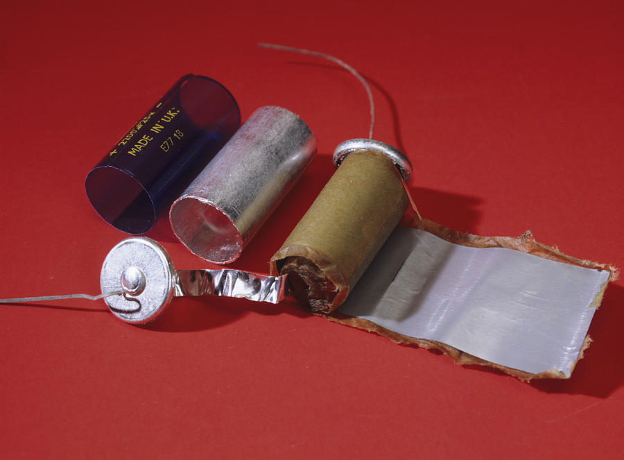 Capacitor Photograph - Dismantled Capacitor by Andrew Lambert Photography