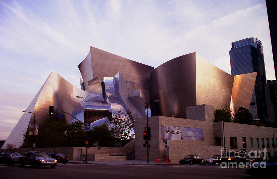 Disney Hall Photograph - Disney Hall Western View by Ron Javorsky