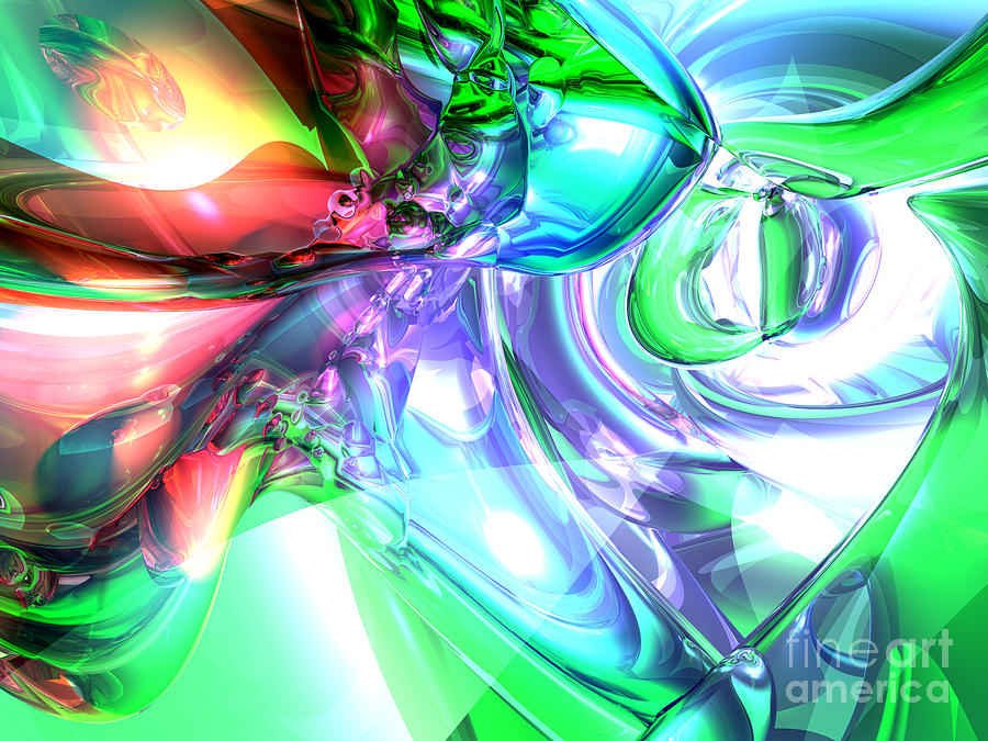 3d Digital Art - Disorderly Color Abstract by Alexander Butler