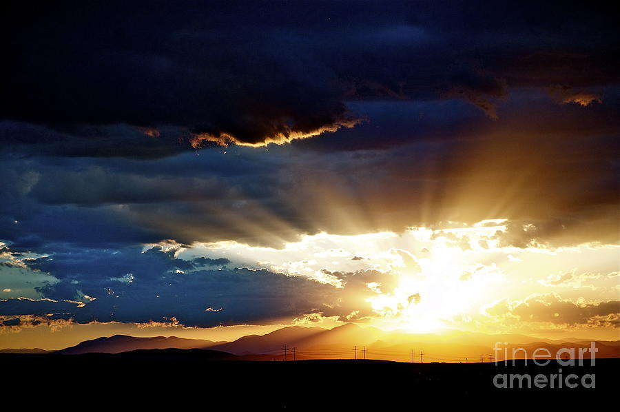 Sunset Photograph - Distant Horizon by Anjanette Douglas