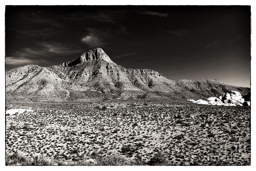 Sepia Photograph - Distant Peak by John Rizzuto