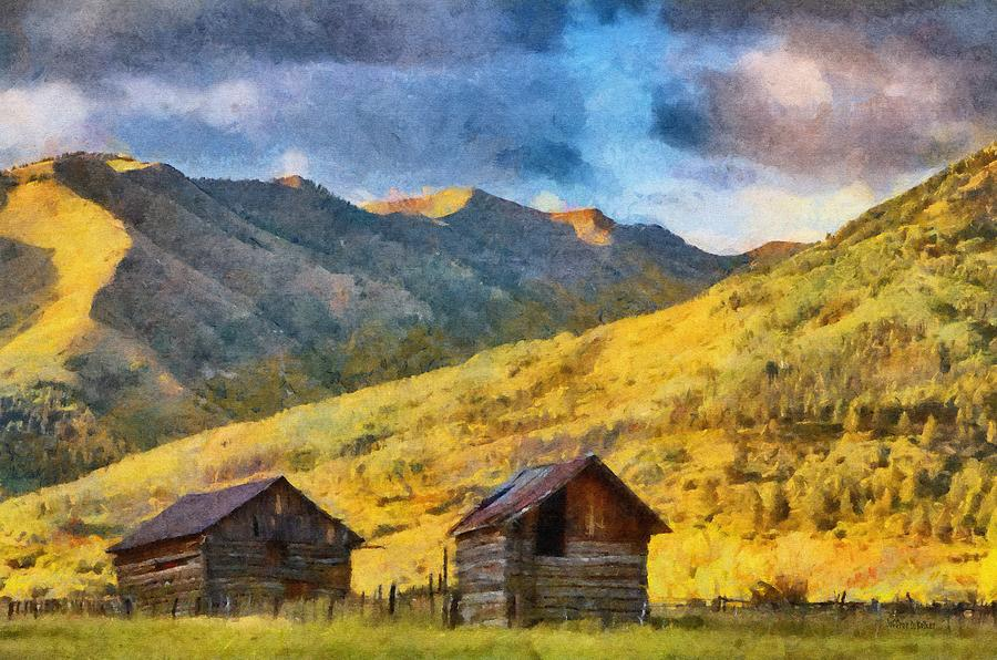 Colorado Painting - Distant Storm by Jeff Kolker