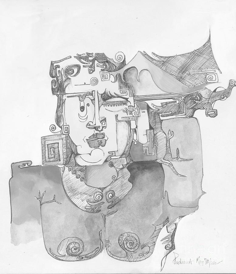 Face Painting - Distortion 3 by Padamvir Singh