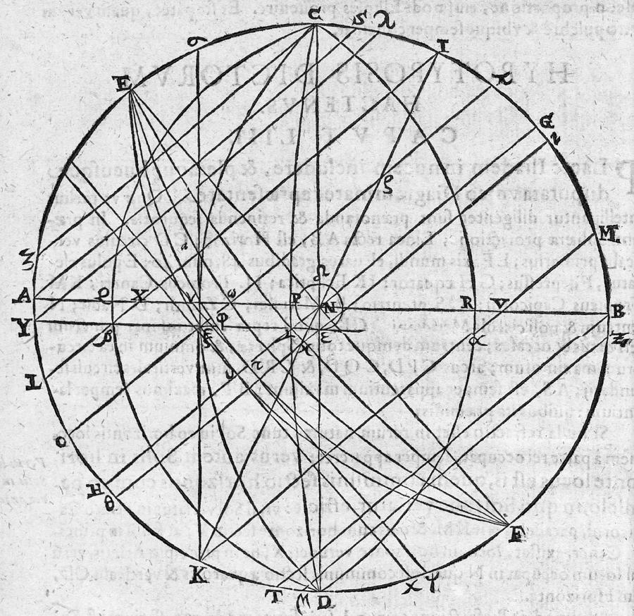 Earth Photograph - Distortion Of The Sun, 17th Century by Middle Temple Library
