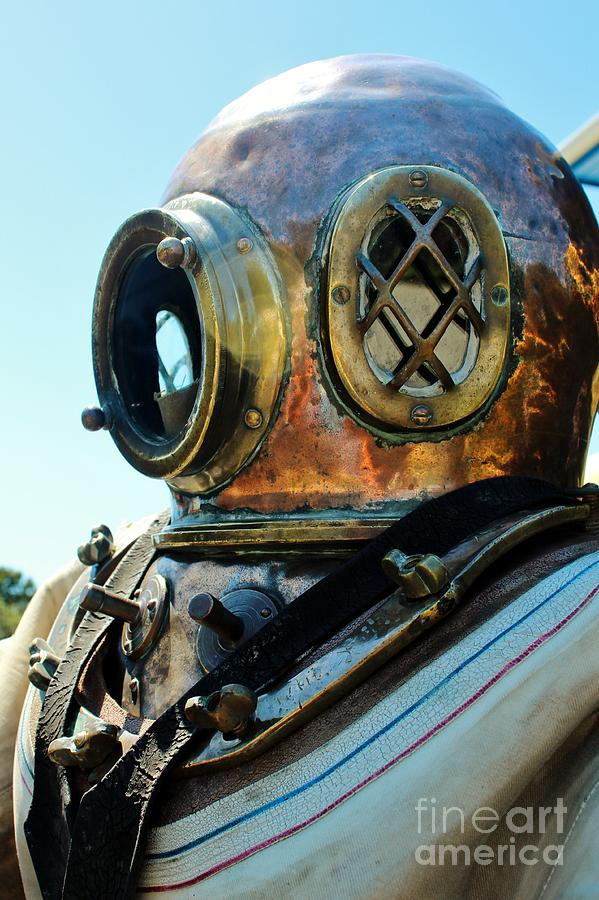 Dive Helmet Photograph - Dive Helmet by Rene Triay Photography
