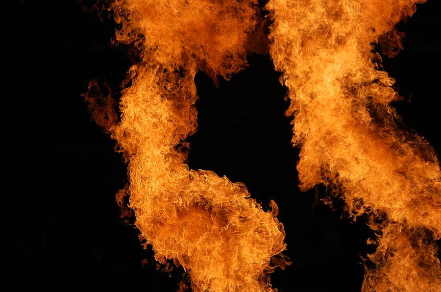 Fire Photograph - Divine Fire by Michelle Visconti