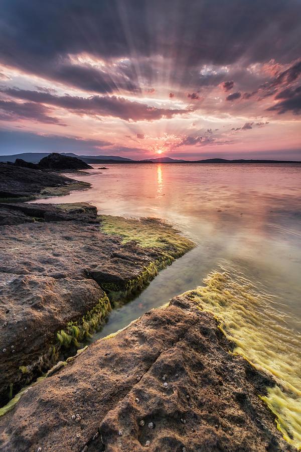 Black Sea Photograph - Divine Sunset by Evgeni Dinev