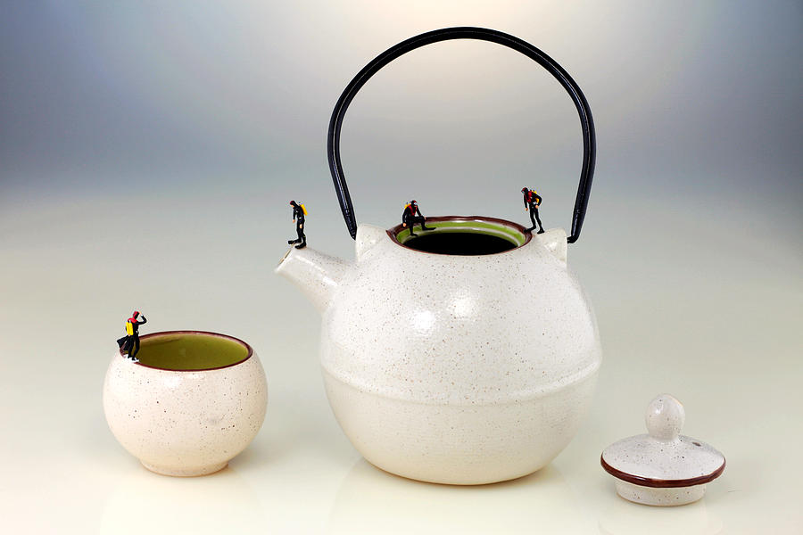 Diving Photograph - Diving On Tea Pot And Cup by Paul Ge