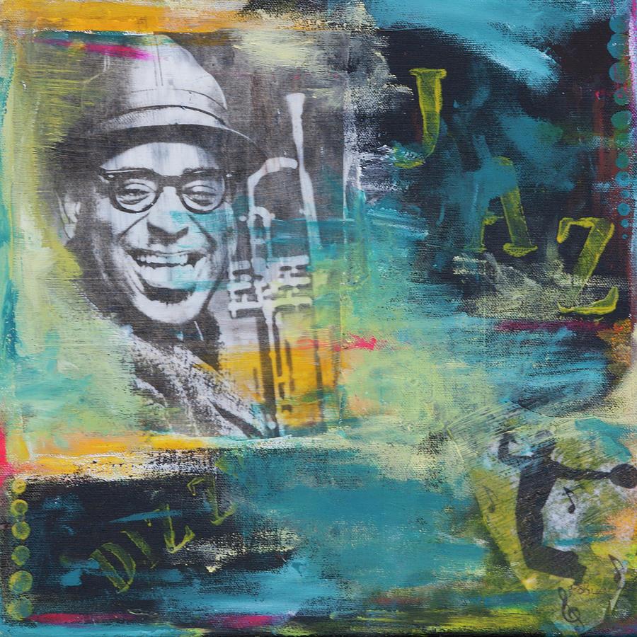 Trumpet Mixed Media - Dizzie by Robin Lee
