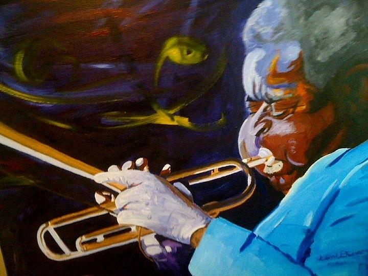 Celebrity Painting - Dizzy by David Duerson