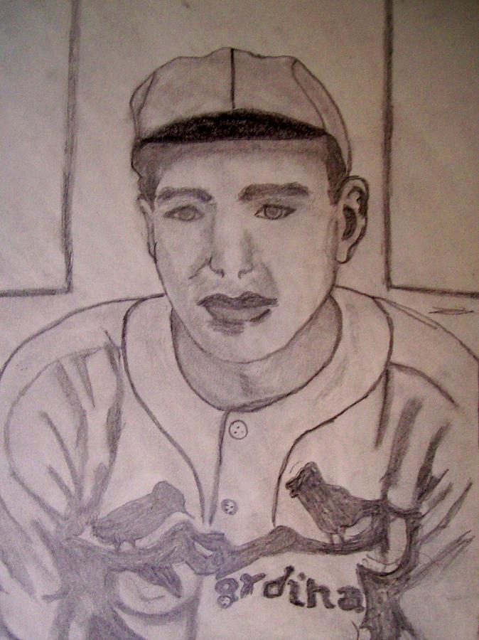 Pitcher Drawing - Dizzy Dean Cardinals Pitcher by De Beall
