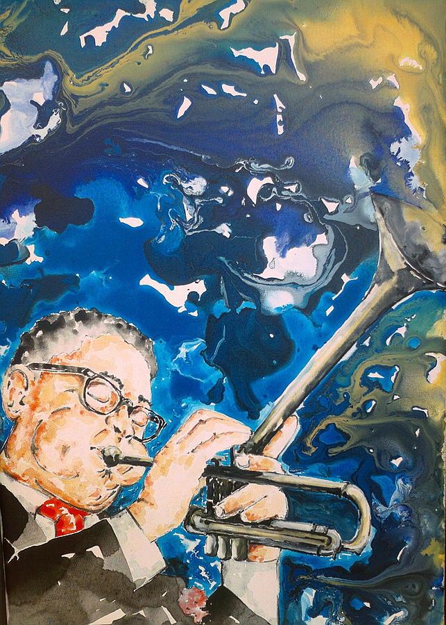 Musician Painting - Dizzy Gillespie by Omar Javier Correa