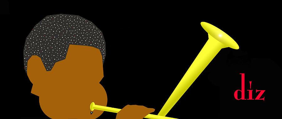 Jazz Digital Art - Dizzy Gillespie by Victor Bailey