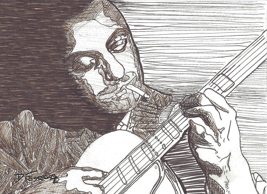 Portrait Drawing - Django by David Fossaceca