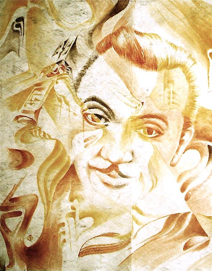 Portraits Django Reinhardt Painting - Django Reinhardt by Jaabi Faarai