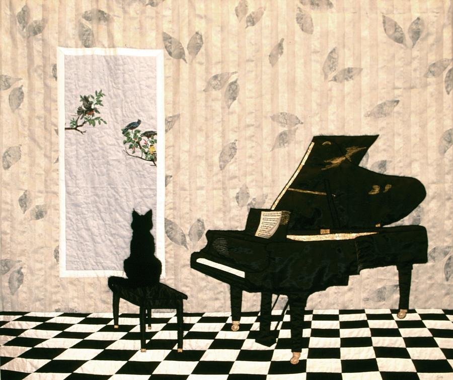 Cat Tapestry - Textile - Do I Have to Practice Now? by Loretta Alvarado