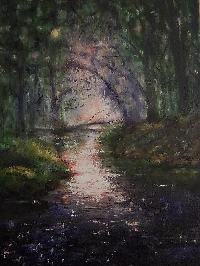 Forest Painting - Do Not Disturb by Stephen King