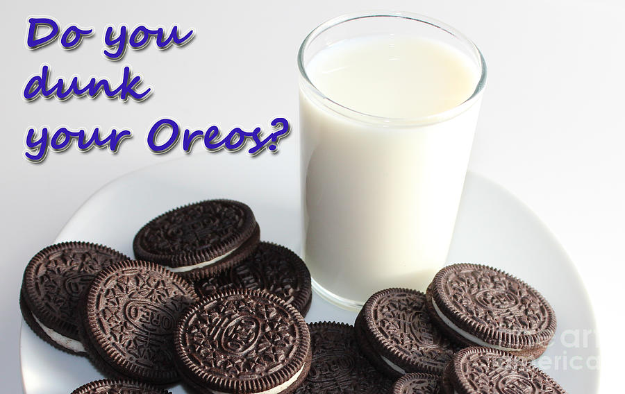 Cookies Photograph - Do You Dunk Your Oreos by Barbara Griffin
