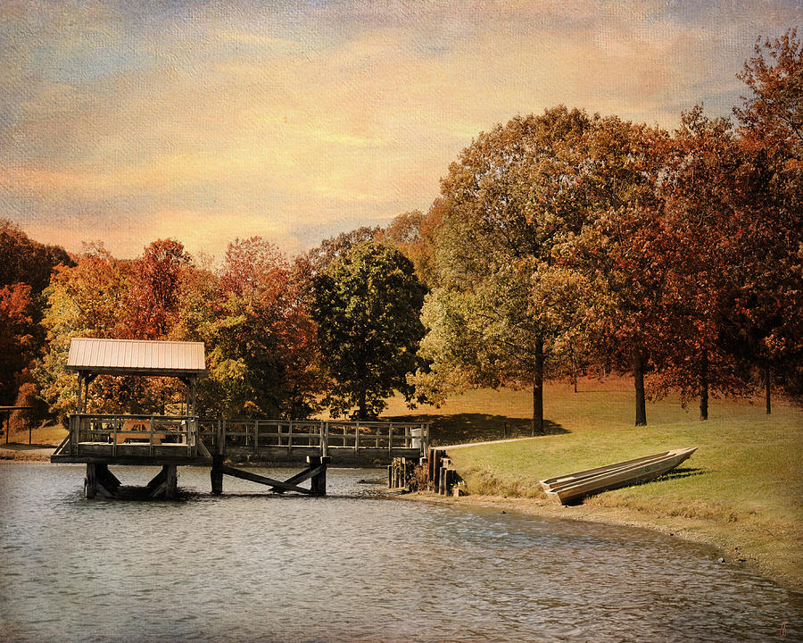 Autumn Photograph - Dock For Two by Jai Johnson