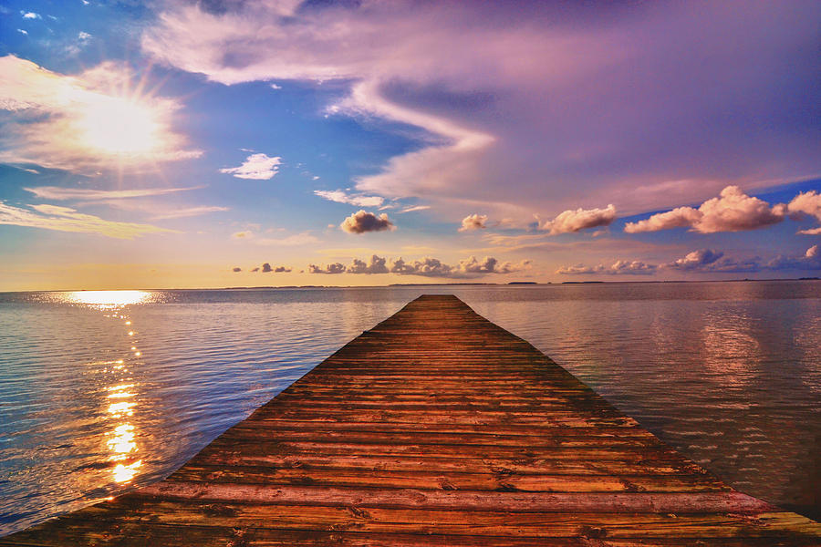 Dock Photograph - Dock Of The Bay by Kelly Reber