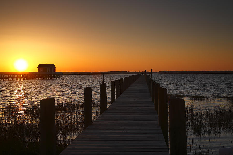 Dock Photograph - Dock On The Bay by Steven Ainsworth