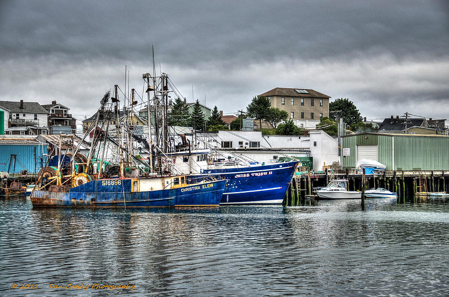 Fishing Boat Photograph - Docked For The Storms by Dan Crosby