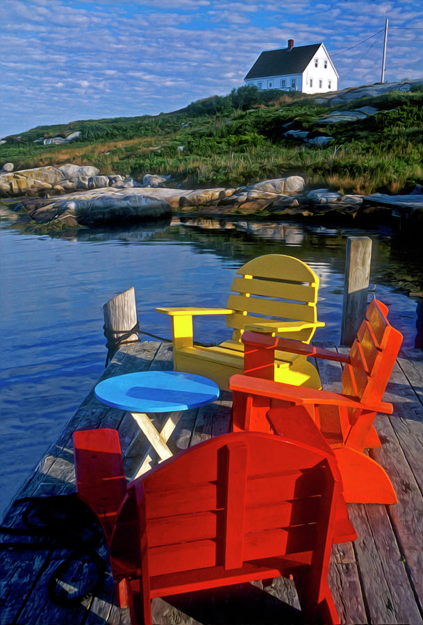 Peggys Cove Photograph - Dockside At Peggys Cove by Dave Mills