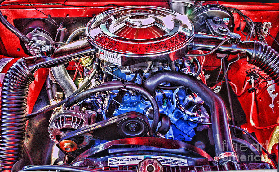 Cars Photograph - Dodge Motor Hdr by Randy Harris