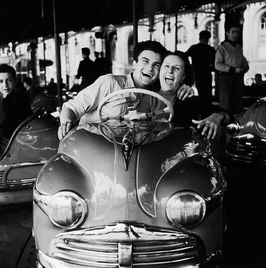 Adults Only Photograph - Dodgems Fans by Archive Photos