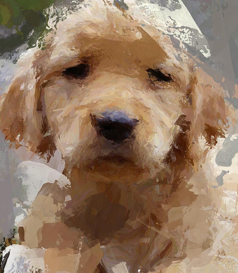 Dog Digital Art - Dog 1 by Yury Malkov