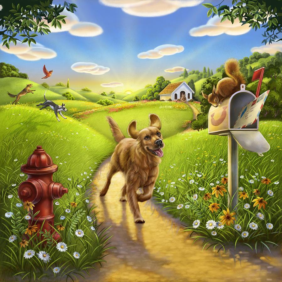 Dog Heaven Mixed Media By Anne Wertheim