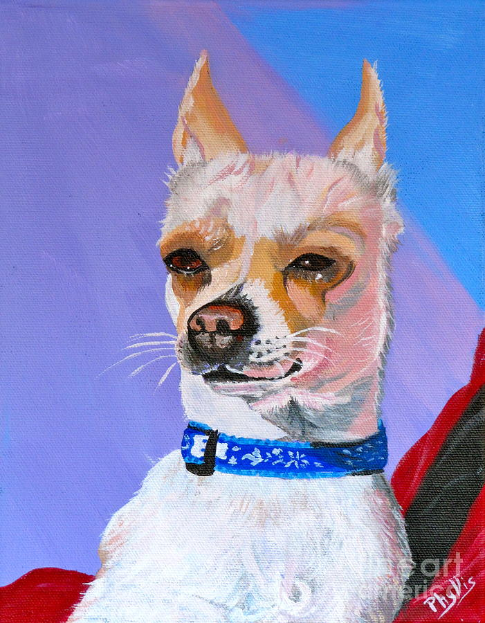 Dog Painting - Doggie Know It All by Phyllis Kaltenbach