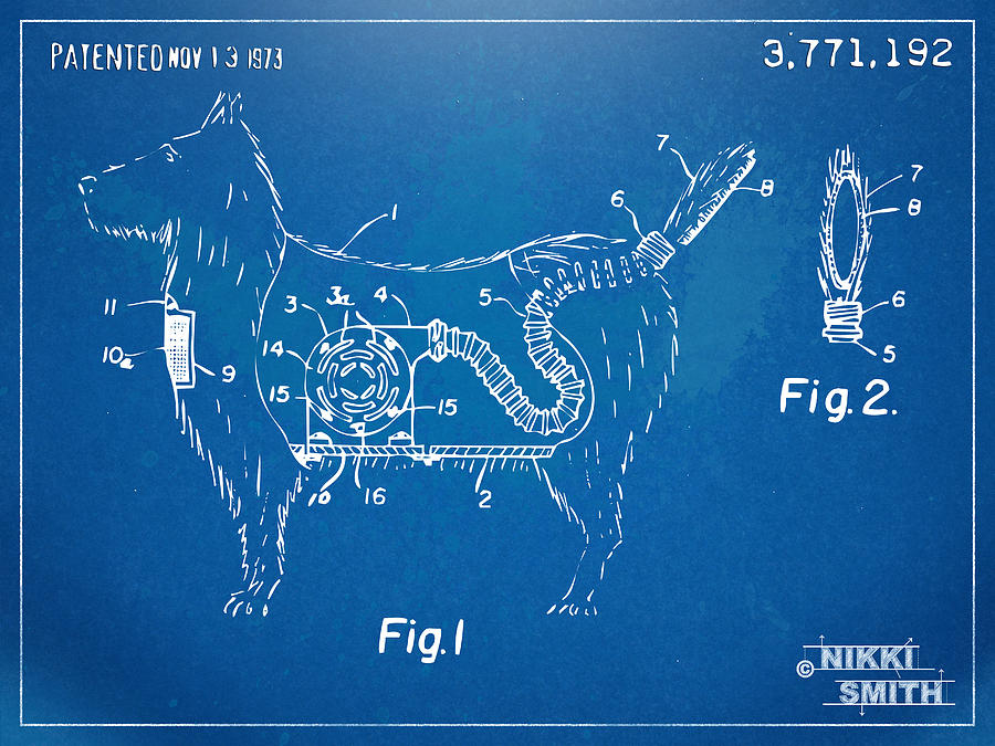 Patent Digital Art - Doggie Vacuum Patent Artwork by Nikki Marie Smith