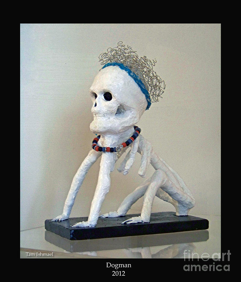 Sculpture Mixed Media - Dogman -2012 by Tammy Ishmael - Eizman