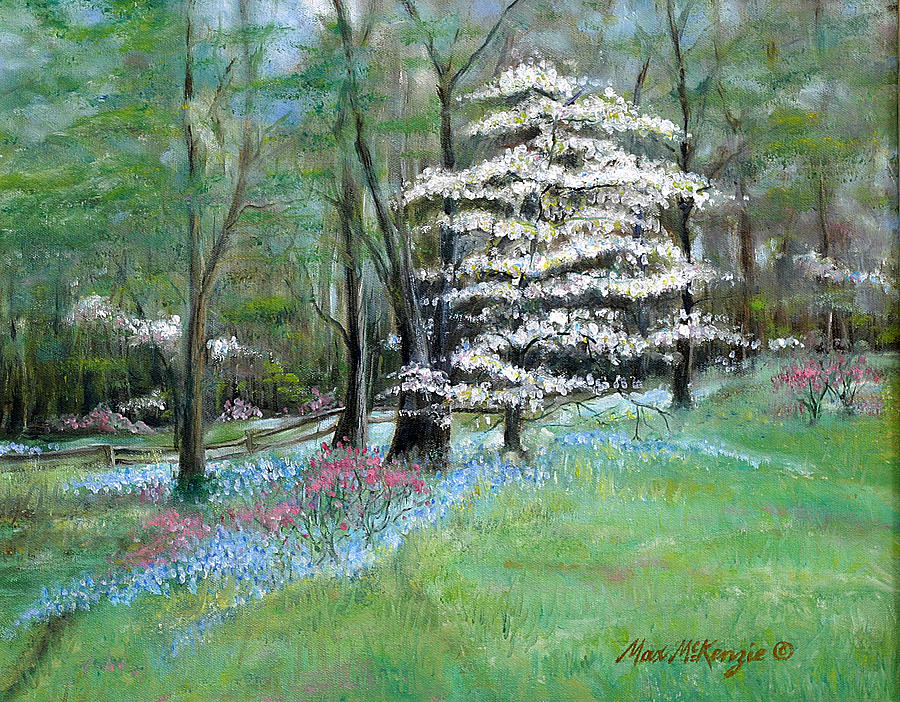 Dogwood Tree Painting - Dogwood In Springtime by Max Mckenzie