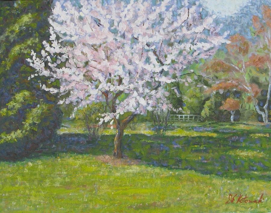 dogwood painting by joseph kotowski