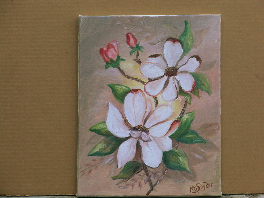 Flowers Painting - Dogwood Study by Mary ann  Snyder