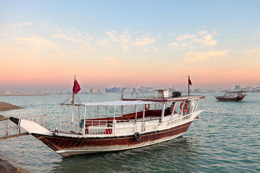 Doha Photograph - Doha Bay Qatar Sunset by Paul Cowan