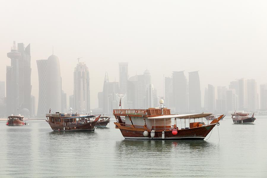 Doha Photograph - Doha In The Mist by Paul Cowan
