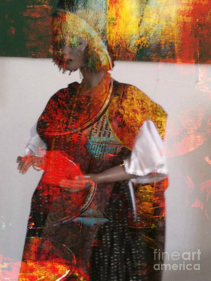 Doll In Paint Mixed Media by Fania Simon
