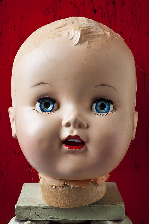 Doll Photograph - Dolls Haed by Garry Gay