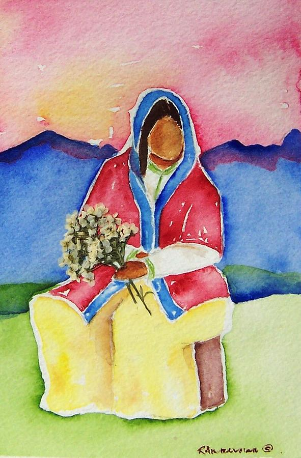 Indigenous People Painting - Dolores by Regina Ammerman