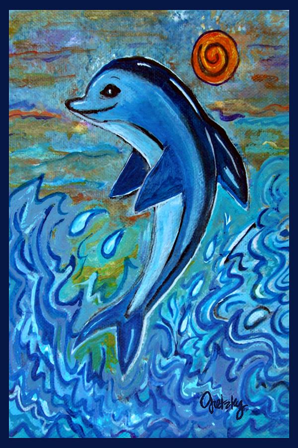 Acrylic Paintings Of Dolphins