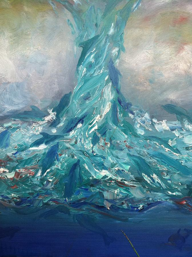 Dolphin Typhoon Painting By Jimmy Carter