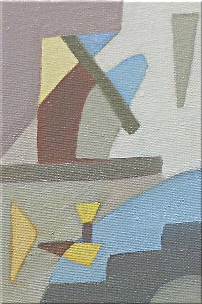 Geometric Painting - Dolphins At Play by Cynthia Agathocleous